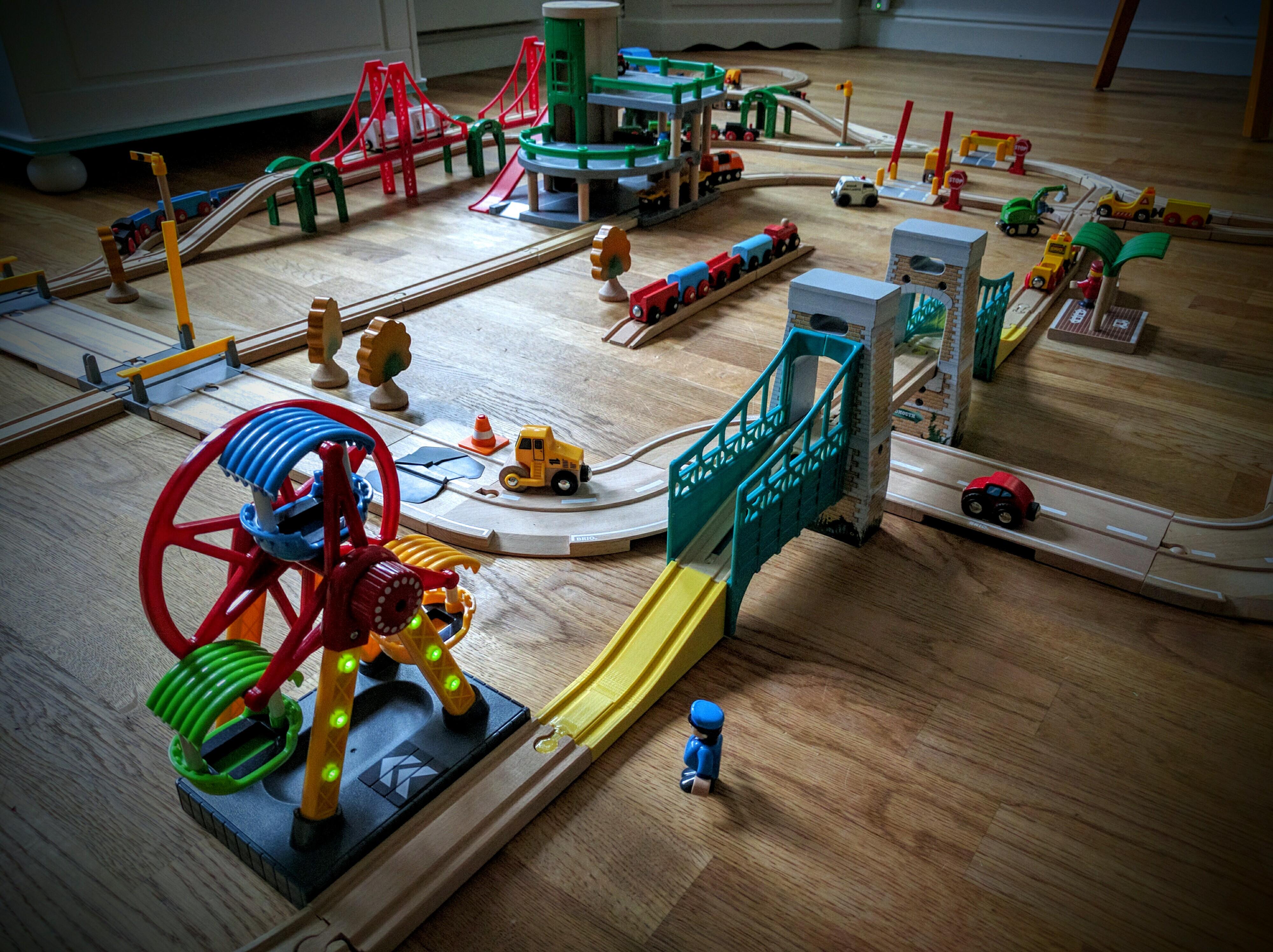 wooden train sets for kids test of time s. Black Bedroom Furniture Sets. Home Design Ideas