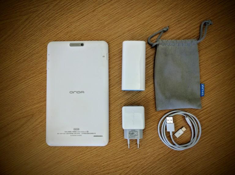 Man purse, shoulder bag, Nike Messenger bag, Onda V820W, Innergie usb charger, TP-LINK 10400